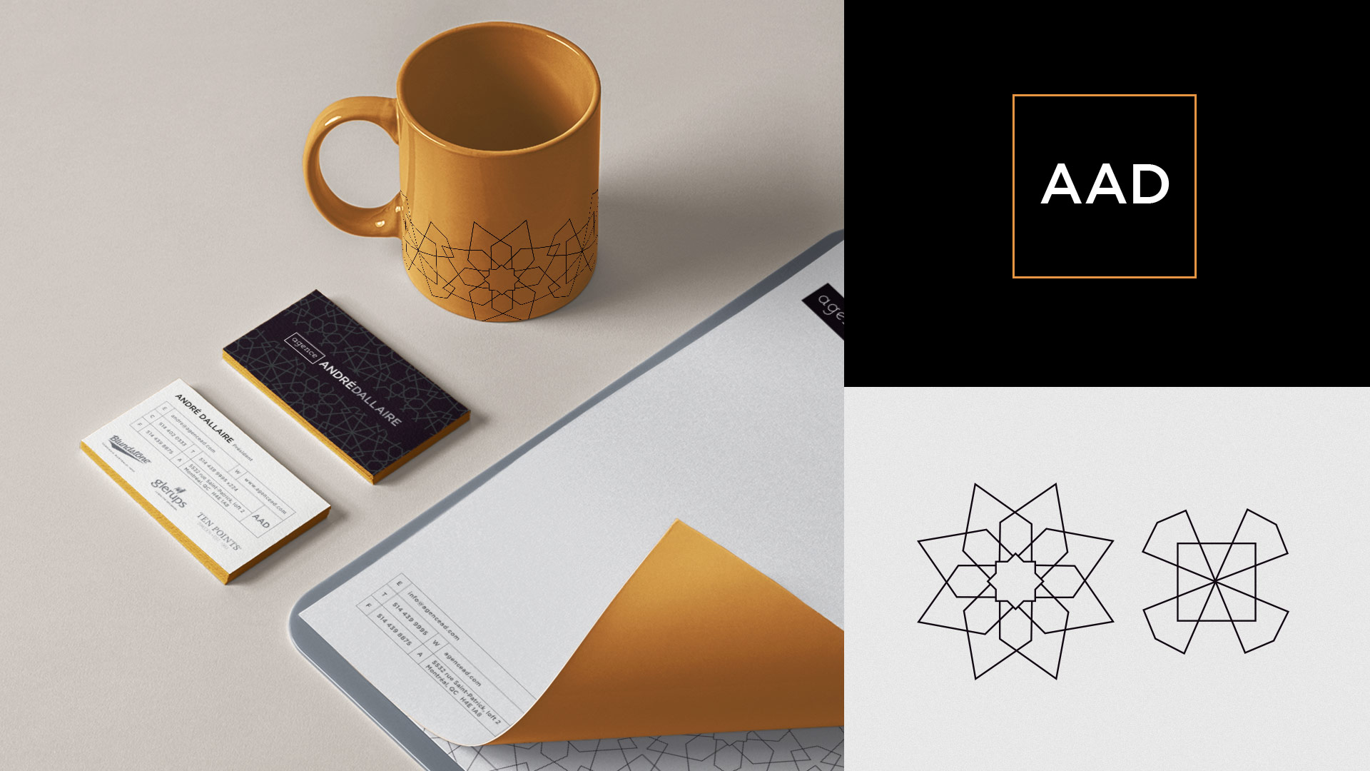 Agence Andre Dallaire Visual Identity with Mark