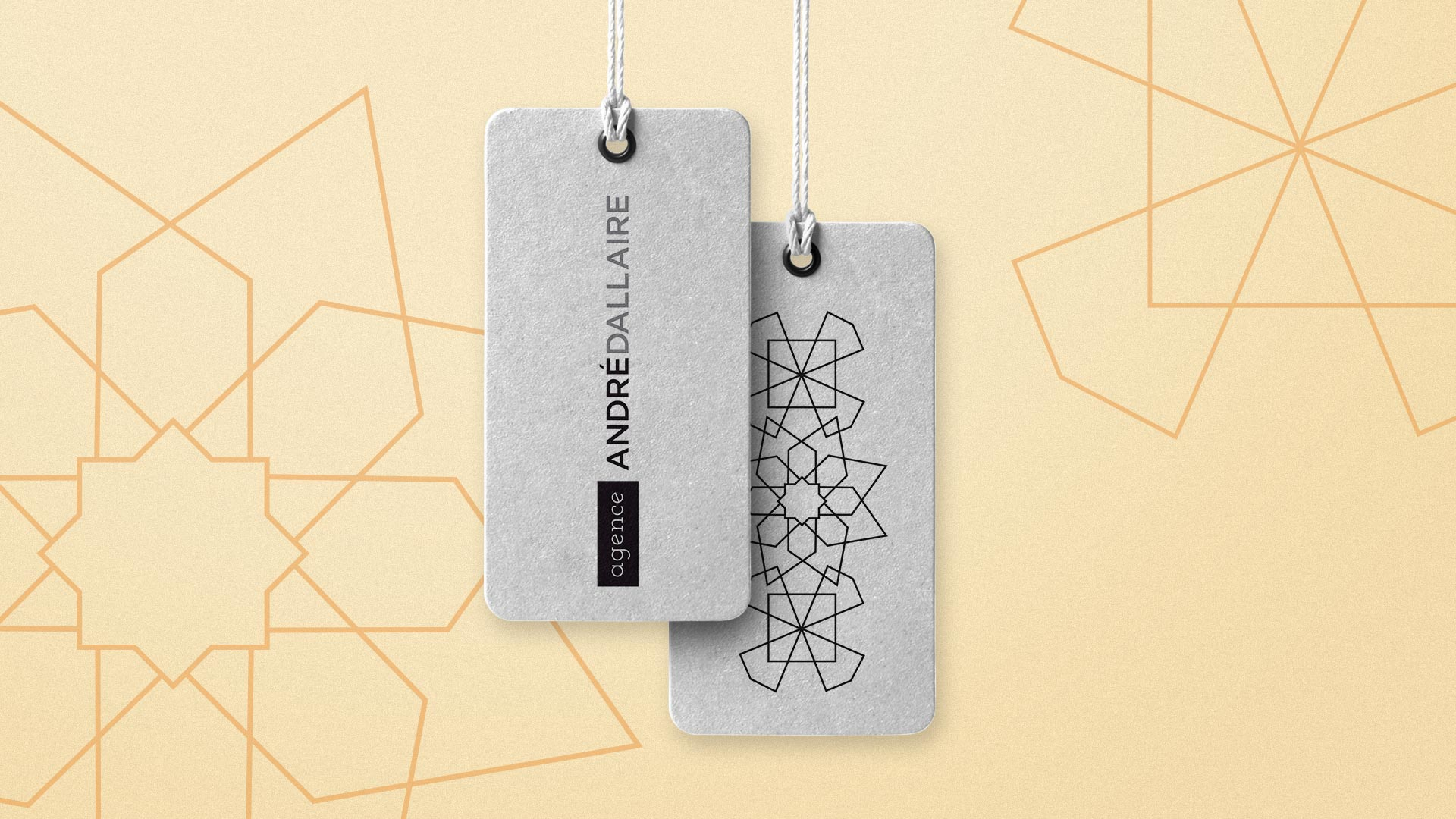 Agence Andre Dallaire Tag Mockup